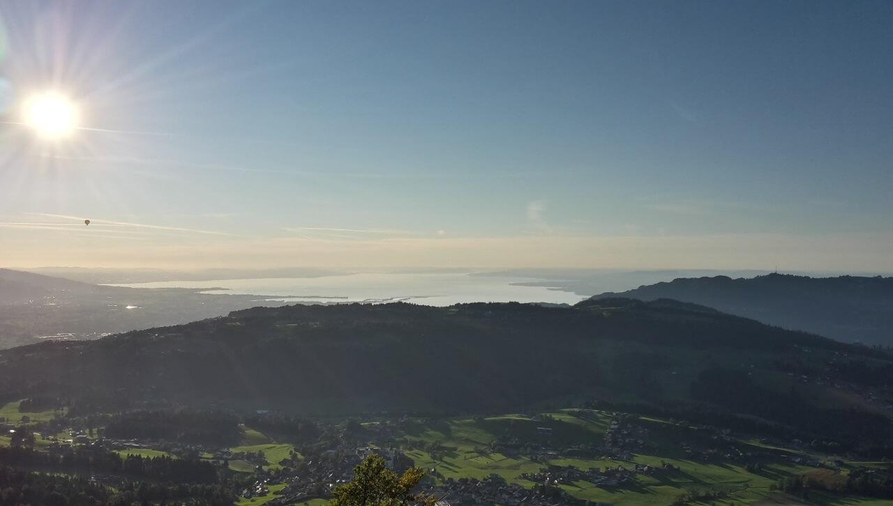 Blick auf den Bodensee vom Brueggelkopf - gpxbike.de