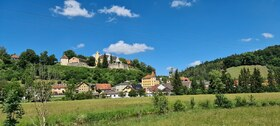 Blick auf Schloss in Möhren - gpxbike.de